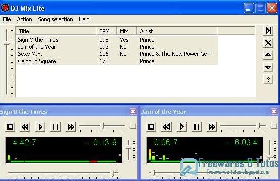Dj mix lite un logiciel gratuit de mixage de musique - Logiciel table de mixage dj gratuit francais ...