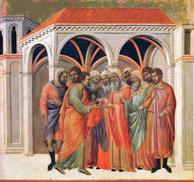 The Betrayal by Judas by Duccio