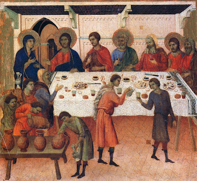 Marriage Feast in Cana by Duccio The Maestà