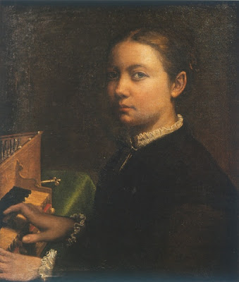 Self Portrait at the Spinet by Anguissola.