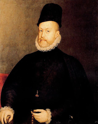 Portrait of Philip II by Anguissola