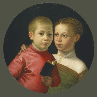 Sofonisba Anguissola Double Portrait of a Boy and Girl
