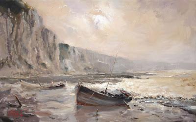 Boat Paintings by Russian Artist Oleg Trofimoff
