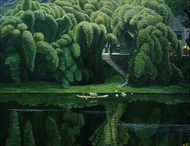 Landscape Painting by Chinese Artist Jian Chong Min