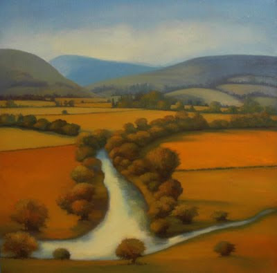 Landscape Painting by British Artist Linn WindsorLandscape Painting by British Artist Linn Windsor