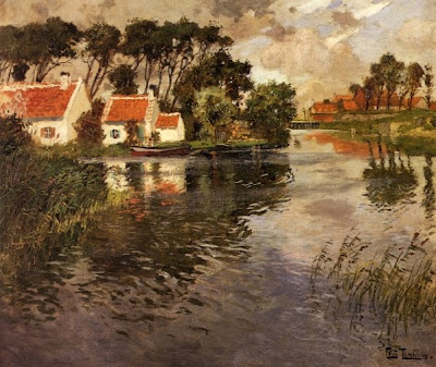 Oil Painting by Frits Thaulow Norwegian Painter