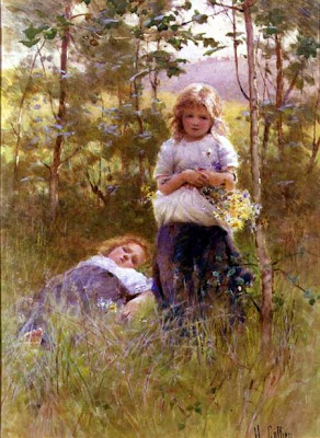 Painting by Victorian Artist Hector Caffieri