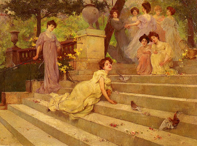 Painting by French Art Nouveau Artist Albert Emile Artigue