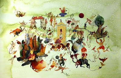 Painting by Iranian Artist Shiva Ahmadi