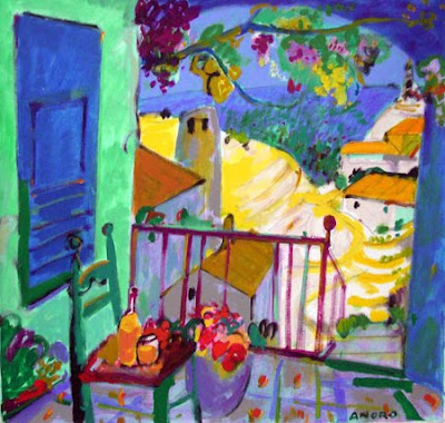 Painting by Manel Anoro Spanish Artist
