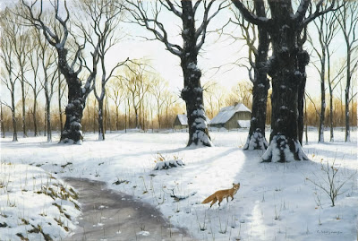 Winter Painting by British Artist Glyn Williams
