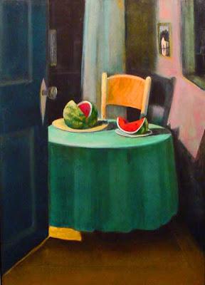 Interior Painting by American Artist Treacy Ziegler