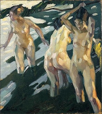 Nude Painting by Leo Putz German Artist