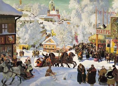Boris Kustodiev, Winter Painting