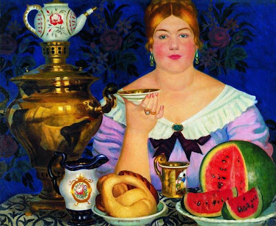Painting by Boris Kustodiev Russian Artist