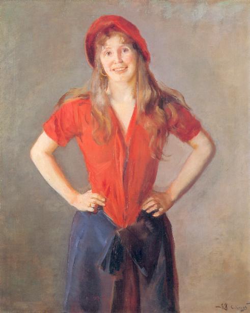 Oil Painting by Norwegian Artist Christian Krohg