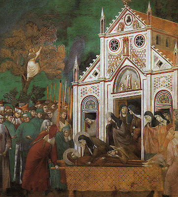 St. Francis Mourned by St. Clare by Giotto