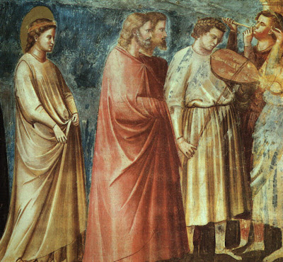 Meeting at the Golden Gate. Painting by Giotto