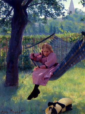 Jules Octave Triquet, Girl in a Hammock