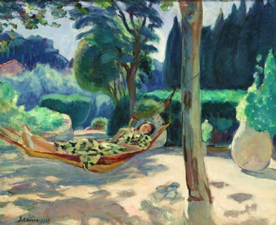 Henri Lebasque, Young Girl in Hammock