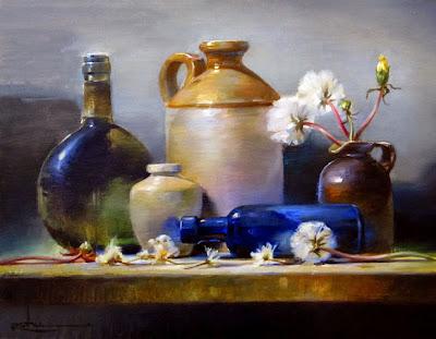 Still Life Painting by Owen Rohu British Artist