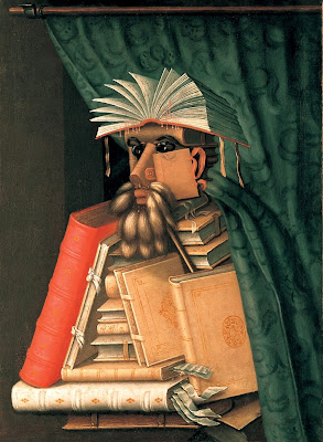 Paintings by Giuseppe Arcimboldo Librarian