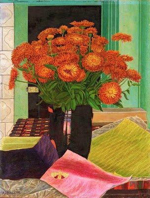 Still life Painting by Adolf Dietrich Swiss Naive Artist