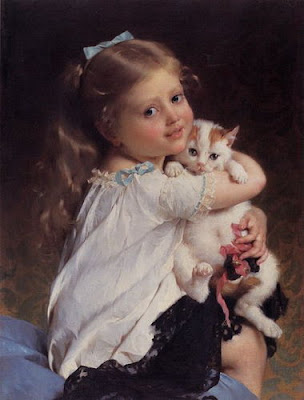Children in Painting by Emile Munier