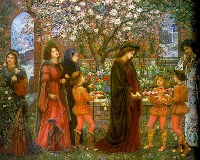 Spring Bloom in Painting. Marie Spartali Stillman, The Enchanted Garden of Messer Ansaldo