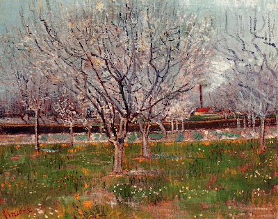 Spring Bloom in Painting. Van Gogh, Orchard in Blossom (Plum Trees)