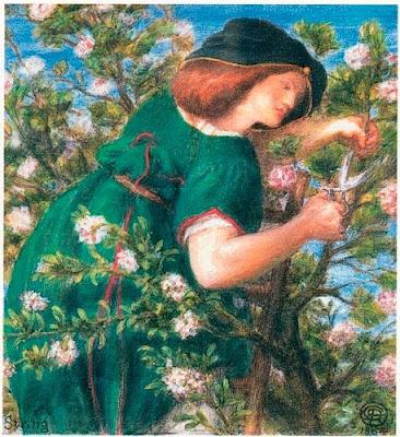 Spring Bloom in Painting. Dante Gabriel Rossetti, Spring