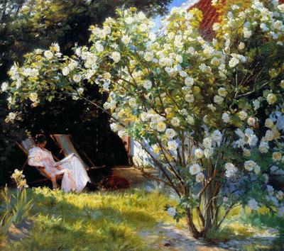 Spring Bloom in Painting. Peder Severin Kroyer, Marie En El Jardin