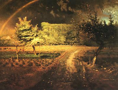 Spring Bloom in Painting. Jean-Francois Millet