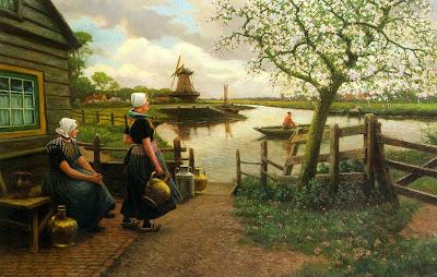 Spring Bloom in Painting. Henri Houben, Spring