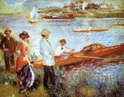 Painting by Pierre-Auguste Renoir Oarsmen at Chatou, 1879