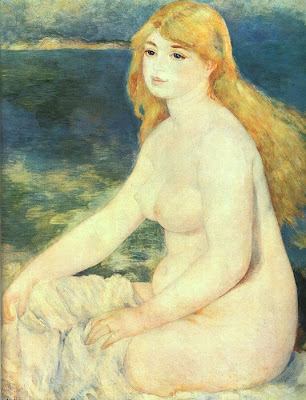 Painting by Pierre-Auguste Renoir Blonde Bather