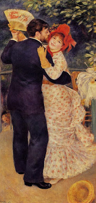 Painting by Pierre-Auguste Renoir Country Dance, 1883