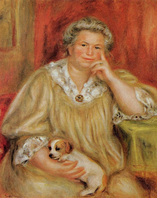 Painting by Pierre-Auguste Renoir Madame Renoir with Bob, 1910
