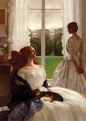 Painting by Leonard Campbell Taylor (1874-1969). The Rain It Raineth Every Day