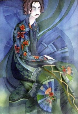 Batik Painting by Russian Artist E Vedernikova