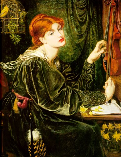 Women and Music in Painting 16-18th c, Dante Gabriel Rossetti, Veronica Veronese