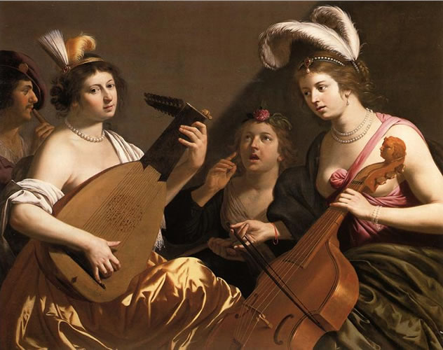 Women and Music in Painting 16-18th c, Jan van Bijlert, Le Concerte
