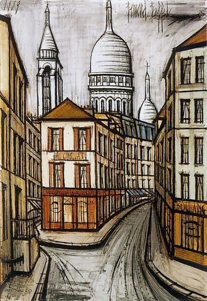 Bernard Buffet, Sacre Coeur in Painting