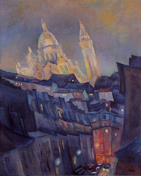 Sacre Coeur in Painting. Claude Max Lochu