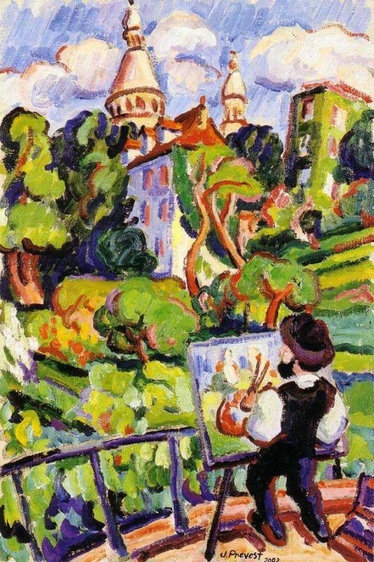 Sacre Coeur in Painting. Jean Prevos