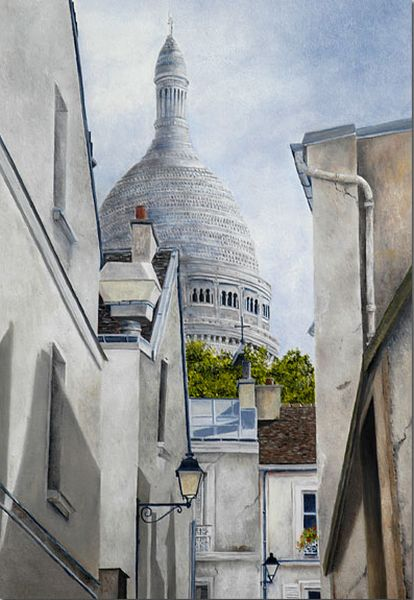 Sacre Coeur in Painting. Marie Claire Houmeau