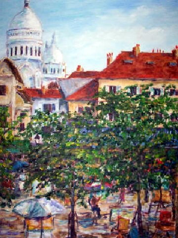 Sacre Coeur in Painting. Sandy Starr