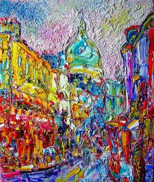 Sacre Coeur in Painting. Tom Scanlon