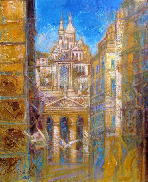 Sacre Coeur in Painting. Aimé Venel