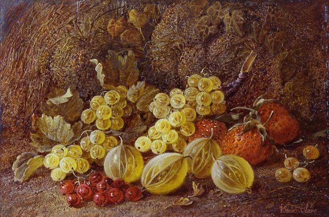 19th c. British artists, flower oil painting,Victorian/Edwardian artists,